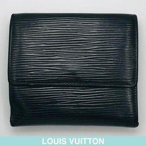 Louis Vuitton Epi black leather wallet M63482